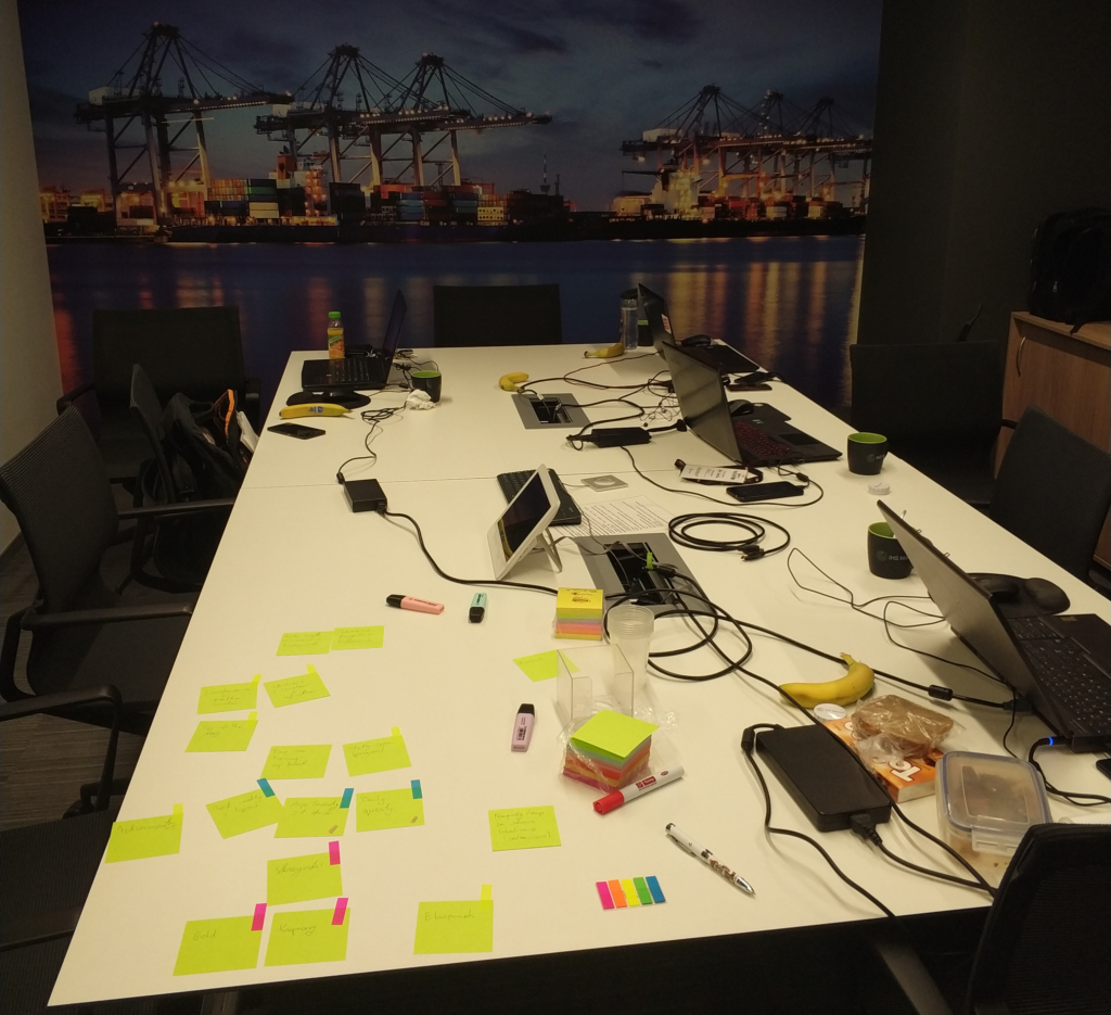 Our work place during last hackathon